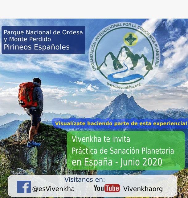 Practica de sanación planetaria en los Pirineos - España